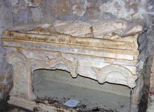 吕基亚州米拉城的圣尼古拉的大理石的墓碑