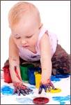 Пальчиковые краски — учимся рисовать