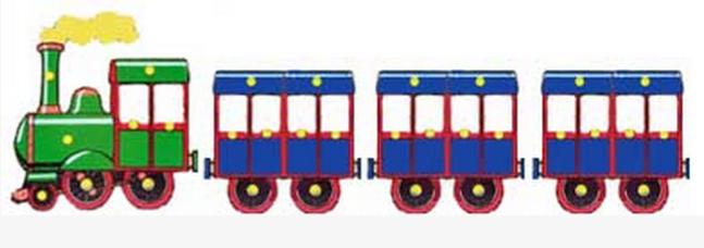 Поезд как сделать из картона