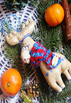 Мастер-класс по изготовлению рождественского оленя от мастерской «Grapedolls and decor»