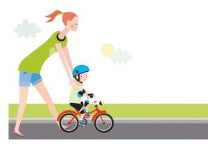 mama 2 300x208 - Как научить ребенка кататься на двухколесном велосипеде