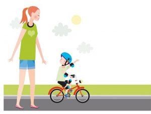 mama 4 300x227 - Как научить ребенка кататься на двухколесном велосипеде