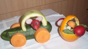 veg32 300x169 - Поделки из овощей и фруктов