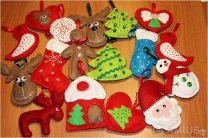 fetrovye igrushki 300x200 - Новогодние ёлочные игрушки своими руками