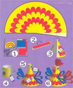 instrukciya po izgotovleniyu petushka iz bumagi 250x300 - Новогодние ёлочные игрушки своими руками