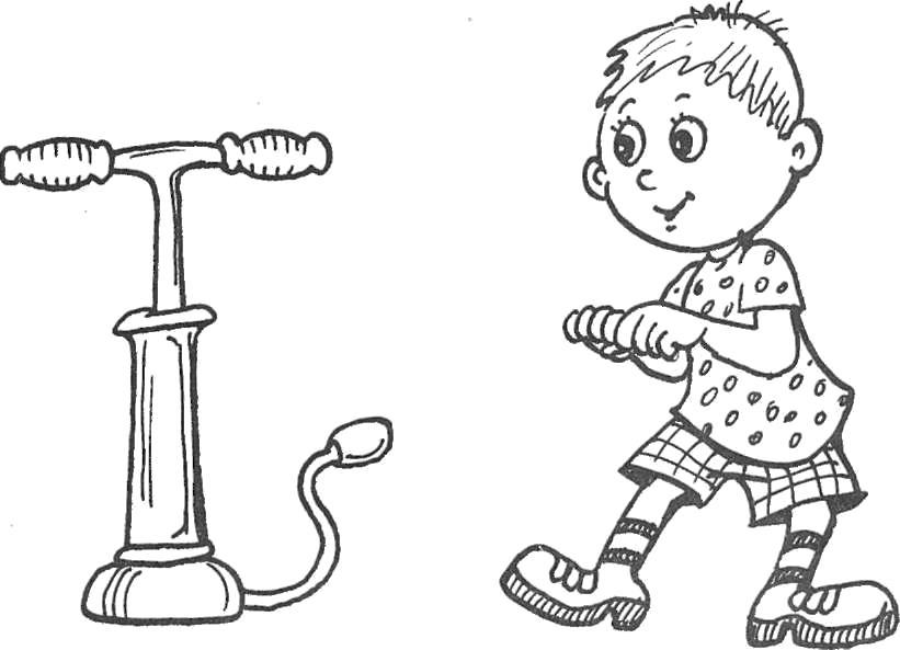 Насос рисунок для детей