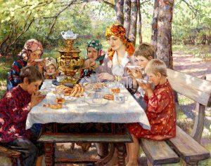 Bogdanov belskij nikolaj kartina gosti uchitelnicy 300x237 - Николай Маслов «Семья. Прочность, цель и назначение»