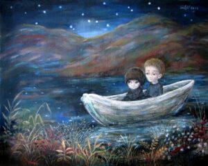 424747 original 1 300x239 - Ангелы Нино: живопись как паломничество в детство