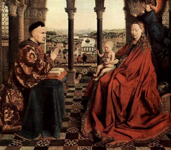 Рис. 1. Ян ван Эйк - Мадонна канцлера Ролена, 1435.JPG
