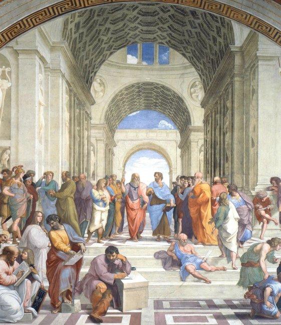Рис. 5. Рафаэль Санти - Афинская школа (фрагмент), 1510-1511 гг..JPG