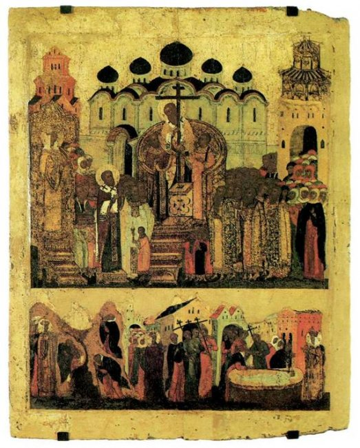 Рис. 7. Воздвижение креста Господня, икона 16 в..jpg