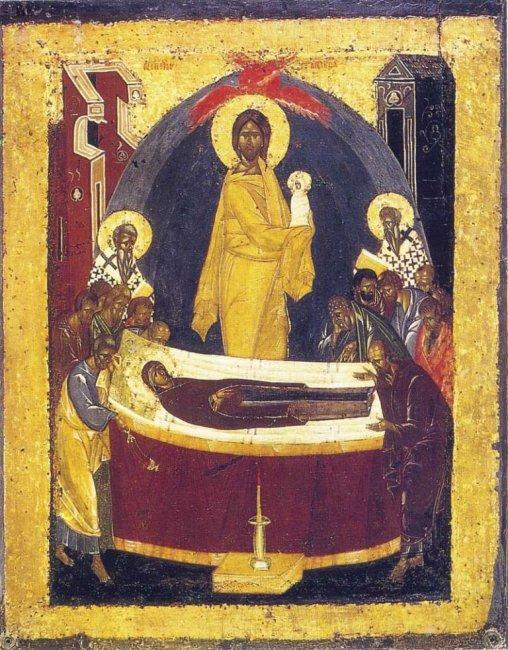 Рис. 8. Феофан Грек (возможно) - Успение, ок. 1392 г..jpg