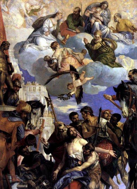 Рис. 12. Паоло Веронезе - Умерщвление св. Георгия, 1564 г. монастырь Сан Джорджо, Верона.JPG