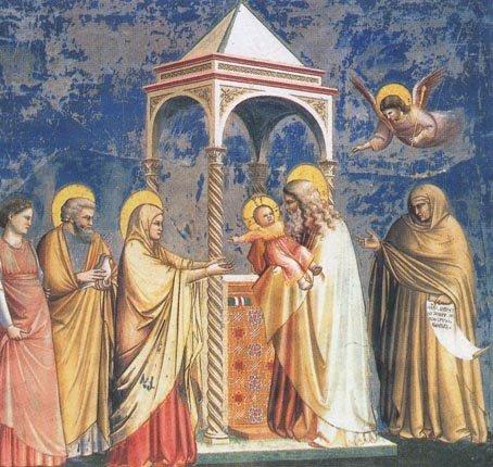 Рис. 22. Джотто ди Бондоне - фреска Сретение, 1305-1307 гг., Капелла дель Арена, Падуя.jpg