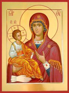 Икона Богородицы Троеручица