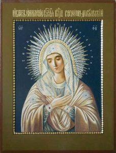 Икона Богородицы Умиление Серафимо-Дивеевская
