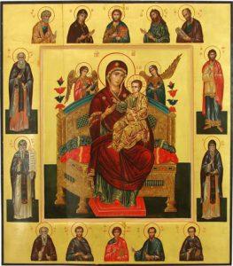 Икона Богородицы Всецарица (Пантанасса)
