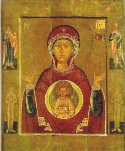 Икона Богородицы «Знамение» Новгородская