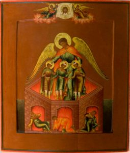 Пророк Даниил и три отрока: мученики Анания, Азария и Мисаил