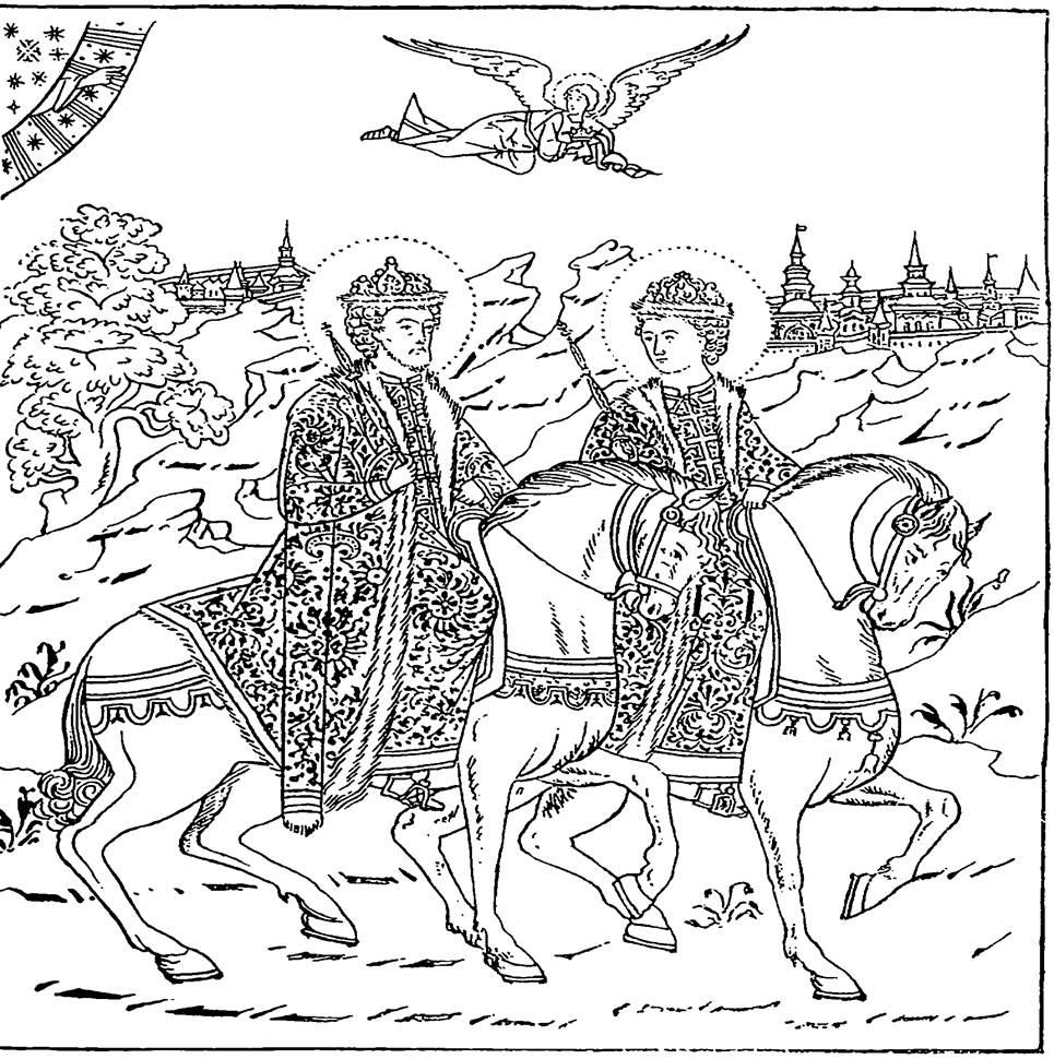 поднявшись, святые древней руси картинки менее экспозиция