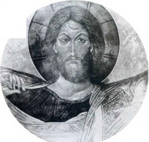 "Фреска ""Христос Пантократор"""