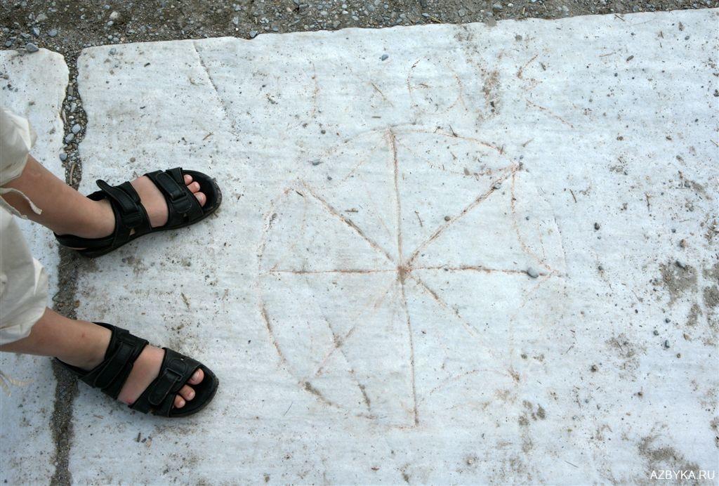 Рисунки на плитах ефесских мостовых