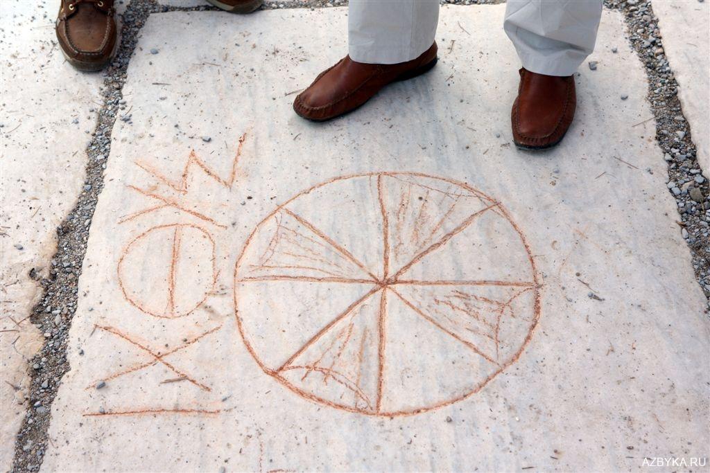Христианские знаки у дверей ефесских домов