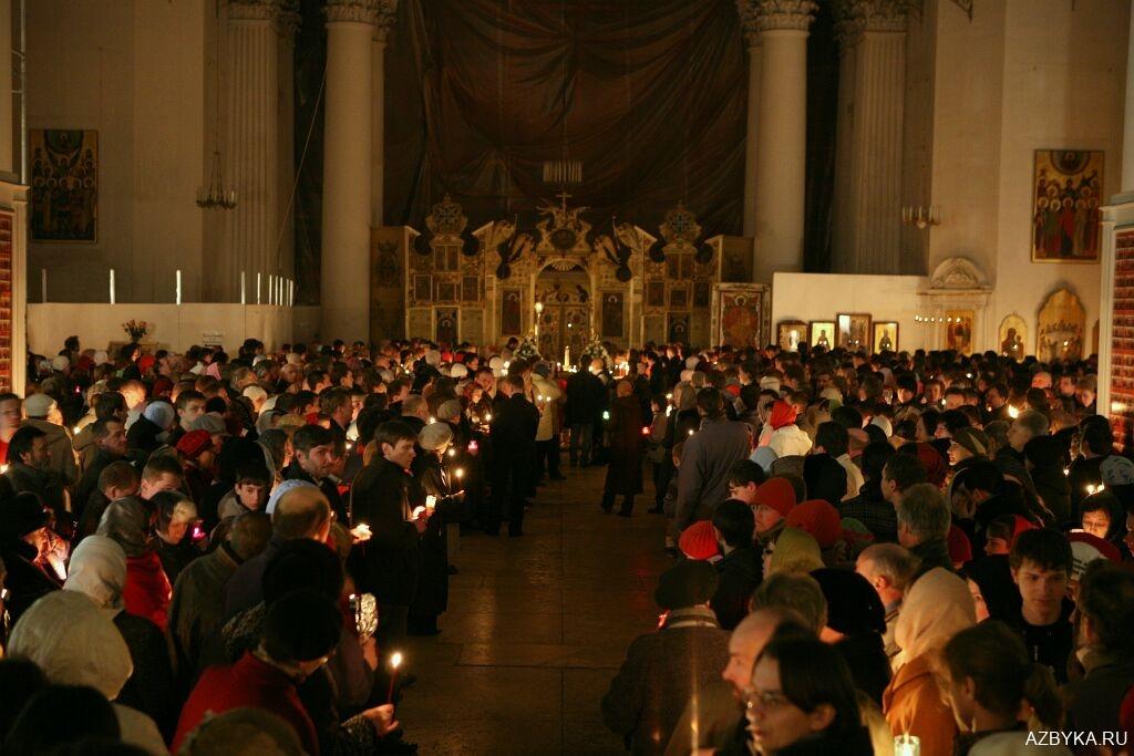 Свечи на богослужении