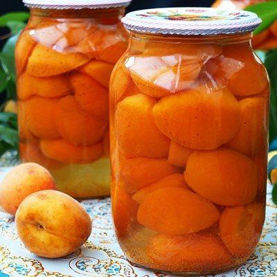 Абрикосовый компот с апельсинами