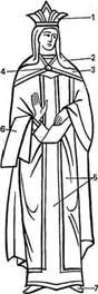Византийский женский придворный наряд