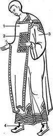 Византийский мужской придворнsый наряд