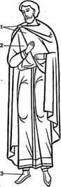 Византийская мужская одежда