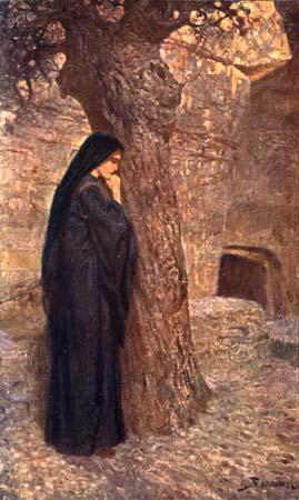 Стояла у гроба