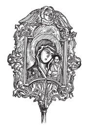 Выносная (запрестольная) икона Божьей Матери