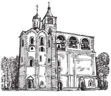 Звонница Спасо-Евфимиева монастыря палатного типа, пристроенная к храму, XVI–XVII вв. Суздаль