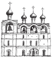 Звонница Успенского собора палатного типа, XVII в. Ростов Великий