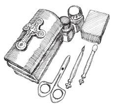 Ковчежец с принадлежностями для совершения Таинства Крещения