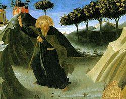 Святой Антоний, искушаемый видом золотой лампы