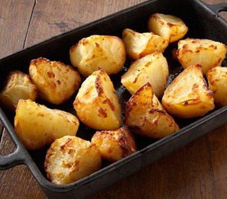 Румяный картофель в духовке — постный рецепт