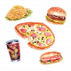 watercolor fast food lunch menu set 1284 5190 300x300 - 7 факторов, снижающих иммунитет